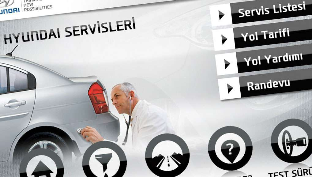 Hyundai Yol Arkadaşım Mobile Application Design