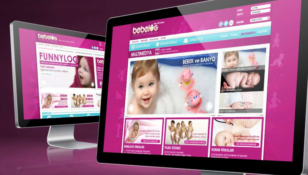 Bebelog Web Site Design